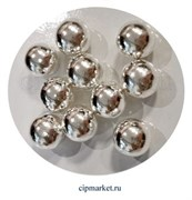 Посыпка-драже сахарное BIAMIX шары Серебряные, 1 см. Вес: 30 гр, Греция