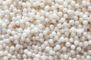 Посыпка шарики жемчуг белый, 3-4 мм. Вес: 50 гр.