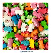 Посыпка Звезда падающая Микс №1 разноцветная ФСД. Вес: 50 гр.