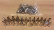 Набор насадок, 24 шт, материал: нерж.сталь. Диаметр нижний: 1,5-2,5 см, высота:3-4 см. Без коробки.