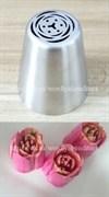 """Насадка """"Малазийский тюльпан-3"""". Диаметр ниж: 3,8 см, верх: 2,5 см, высота: 4,3 см."""