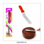 Шпатель с пластиковой ручкой малый. Общая длина: 23 см, ширина: 2.2 см.
