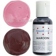 Краситель гелевый AmeriColor, цвет: MAROON, 21 гр