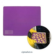 Коврик для выпечки и раскатки силиконовый, цвета микс. Размер: 38*28 см.