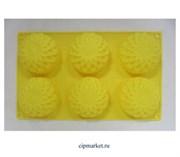 Форма для выпечки 27×18 см «Полусфера», 6 ячеек (7×7×3,5 см) Формы для выпечки и шоколада сфера круг