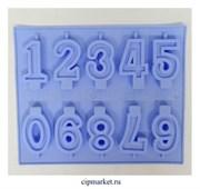 Форма силиконовая Цифры на ножке. Размер цифры: 7 см, размер формы: 25*21см.