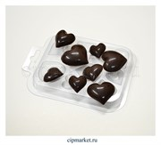 Форма для шоколада Шоко-сердечки. Материал: пластик. Размер: 10 х8,5 см.