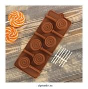 Форма для шоколада и конфет Леденец. Размер: 24*9,5 см.