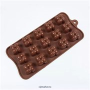 Форма для шоколада Квадрат-2. Размер: 21*10,5 см.