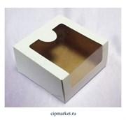 Коробка для торта и сладостей с окном. Размер:18*18*10 см.