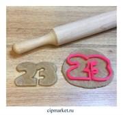 Вырубка Цифра 23 . Материал: пластик. Размер: 8 см.