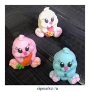 Фигурка сахарная Кролик гламурик. Цвет микс. Размер: 7 см