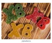 Фигурка сахарная мармеладная пасхальная Буквы ХВ. Цвет микс. Размер: 5 см