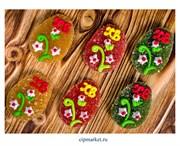 Фигурка сахарная мармеладная Яйцо пасхальное Буквы ХВ. Цвет микс. Размер: 5 см