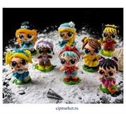 Фигурка сахарная кукла Лол микс LOL. Размер: 7-8 см
