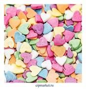 Посыпка Сердца разноцветные. Вес: 50 гр.