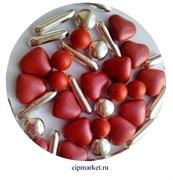 Посыпка-драже сахарное BIAMIX Микс Красные сердца с серебром. Вес: 30 гр, Греция