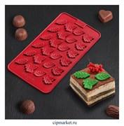 Форма для шоколада и конфет Листики. Размер: 21*11 см