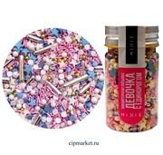Посыпка сахарная ассорти MIXIE Девочка с единорогом. Вес: 50 гр, Россия.