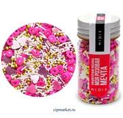 Посыпка сахарная ассорти MIXIE Моя розовая мечта. Вес: 50 гр, Россия.