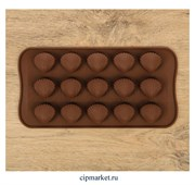 Форма для шоколада и конфет Ракушки. Размер: 21*10 см.