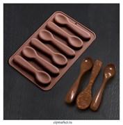 Форма для шоколада и конфет Ложечки. Размер: 18*12 см.