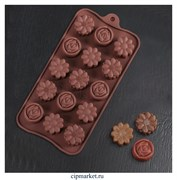 Форма для шоколада и конфет Клумба. Размер: 21,5*10,5 см.