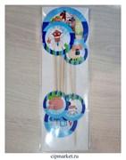 Топпер картон СТ На ферме, набор 6 шт. Размер: 5,5/7,10 см.