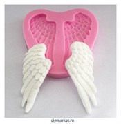 "Молд  ""Крылья ангела"". Размер: 7.2*6,8 см."