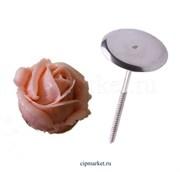 Подставка -гвоздь для изготовления кремовых цветов. Диаметр: 3 см. Высота: 6.5 см