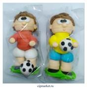 Фигурка сахарная Футболист сувенирный. Цвет микс. Размер: 9 см