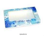 Коробка для пряников и сладостей с окном МК Новый год. Размер: 20*12*3,5 см.