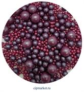 Посыпка шарики Сиреневые Ассорти микс №106 драже зерновое. Вес: 50 гр.