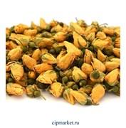 Бутоны роз сушеные Желтые, кулинарные сухоцветы-декор. Россия. Размер: 2-3 см. Вес: 20 гр