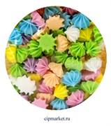 Сахарные фигурки мини-безе Цветной микс. Вес: 35 гр. Размер: 1 см