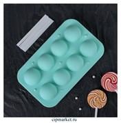 Форма для леденцов и мороженого Кейк-попс. Размер: 19,5×11,7×3,5 см, 8 ячеек (d=3,9 см), 2 части, с палочками