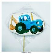 Пряник медовый Топпер Синий трактор. Размер: 9,5 см. Вес: 110 гр. Лицензия