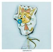Пряник медовый Топпер Три кота Карамелька. Размер: 11 см. Вес: 60 гр. Лицензия