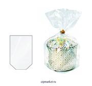 Пакет пасхальный для кулича без рисунка, набор из 5 шт. Размер: 11х28 см
