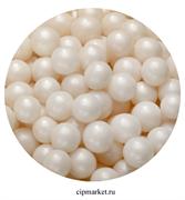 Посыпка шарики Белые микс №126 драже зерновое 12-13 мм. Вес: 50 гр