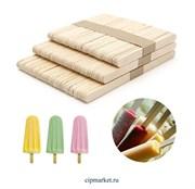 Палочки для мороженого, набор 50 шт, дерево. Размер: 15×1,9 см