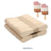 Палочки для мороженого фигурные, набор 50 шт, дерево. Размер: 9×1,5 см