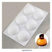 Форма силиконовая для муссовых десертов и выпечки Купол, 6 ячеек. Размер: 30×17,5 см, d=7,5 см