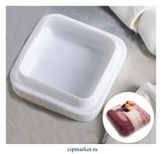 Форма силиконовая для муссовых тортов и выпечки Квадро. Размер: 16,5×5,5 см