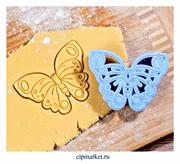 Вырубка со штампом Бабочка. Размер: 7,5×10×1,5 см
