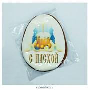 Пряник медовый Яйцо пасхальное Кулич с Пасхой. Размер: 12 см. Вес: 90 гр
