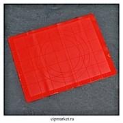 Коврик для выпечки и раскатки с разлиновкой силиконовый, цвета микс. Размер: 38×30см