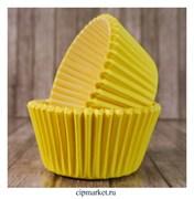 Формы бумажные для кексов Желтые, набор 50 шт. Размер: 5х3,5 см