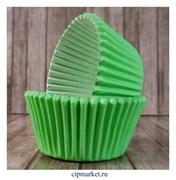 Формы бумажные для кексов Зеленые, набор 50 шт. Размер: 5х3,5 см