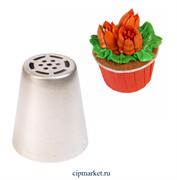 Насадка №38 Тюльпан. Диаметр ниж: 3,7 см, верх: 2,5 см, высота: 4,3 см